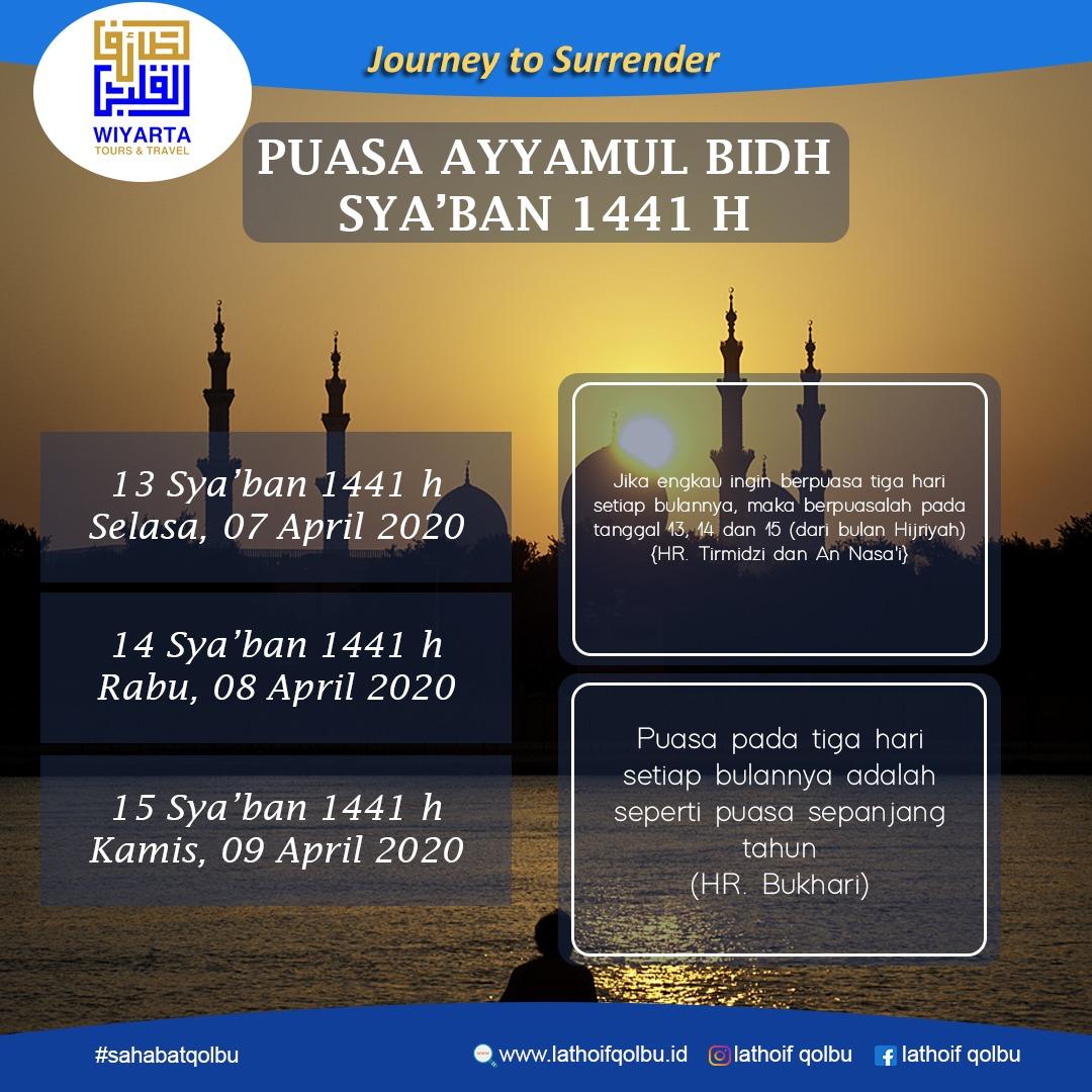 Puasa Ayyamul Bidh Sya'ban 1441H
